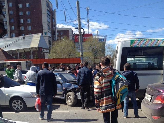 Массовая авария парализовала движение насеверо-западе Челябинска