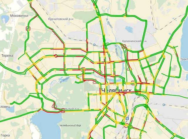 Утренний снегопад вызвал трагедии и9-балльные пробки вЧелябинске