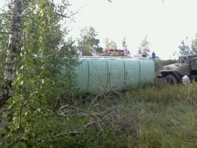 Под Троицком опрокинулся автобус с пассажирами