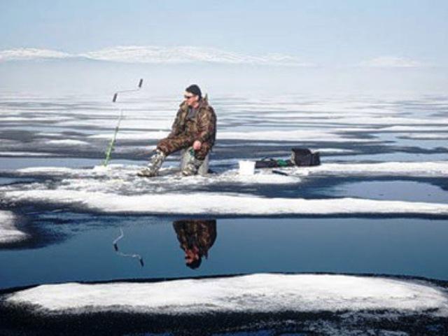 башкирия рыбаки на льдине