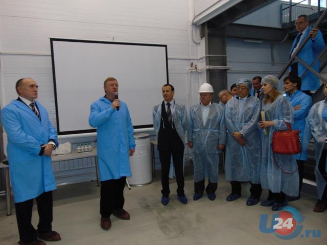 Анатолий Чубайс открыл вКыштыме цех глубокого обогащения кварца