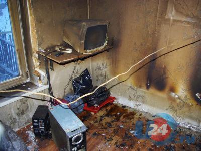 Из-за пожара в частном доме погиб маленький ребенок