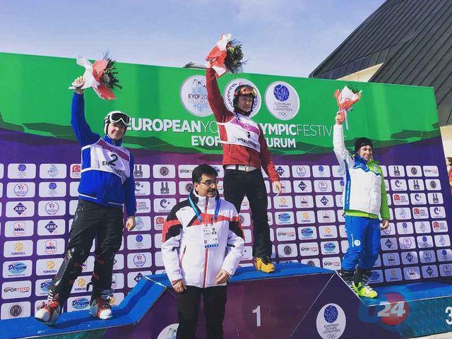 Горнолыжники изЮжно-Сахалинска вошли в15 наилучших  наолимпийском фестивале вТурции