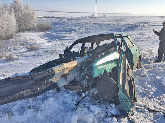 Водитель распоротого отбойником ВАЗа был нетрезв