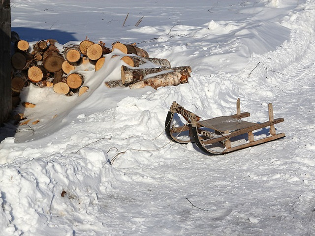 На Южном Урале отец, катая ребенка на санках, сломал ему позвоночник и разбил голову