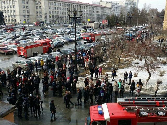 ВЧелябинске произошел пожар вЮжно-Уральском национальном университете