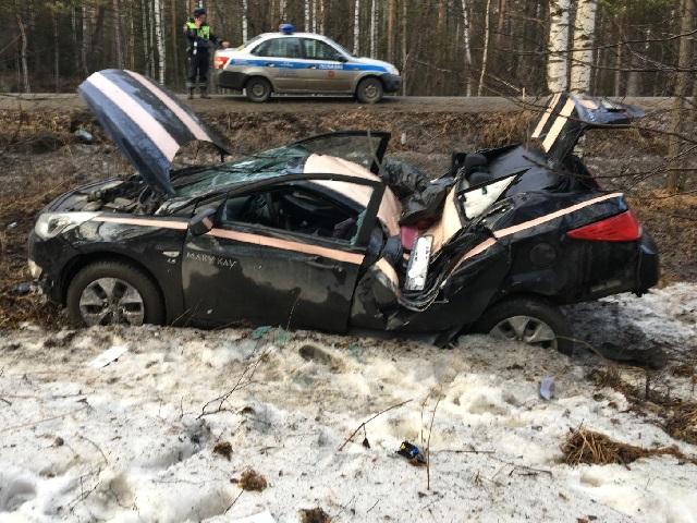 Водитель иномарки пострадал в серьезном ДТП между Миассом и Златоустом
