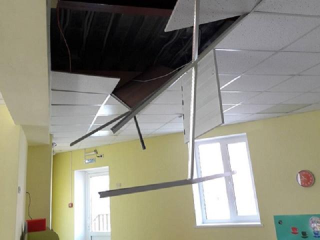 В Челябинской области в детском саду обрушился потолок