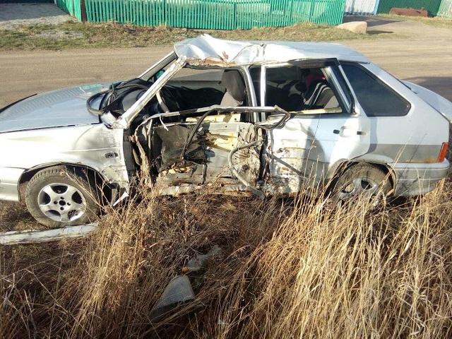 В Челябинской области водитель протаранил столб: пострадали девушка и 8-летний ребенок