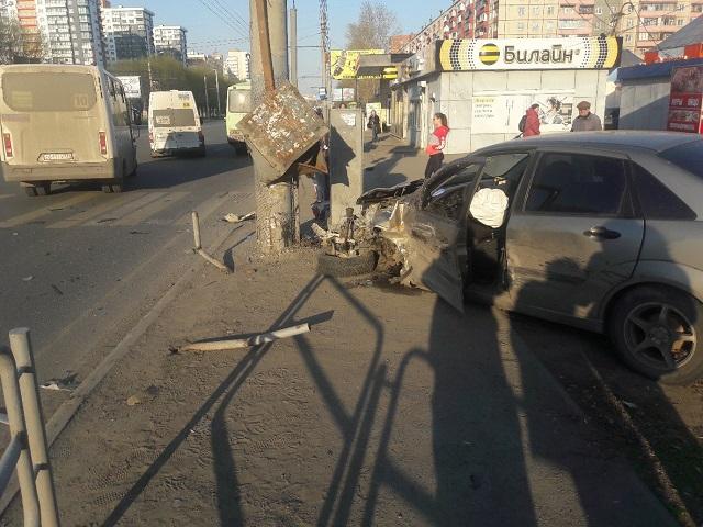 В центре Челябинска столкнулись две иномарки