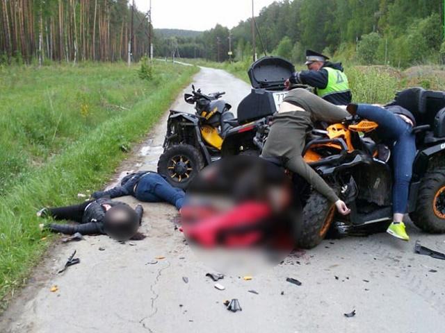 На Урале столкнулись два квадроцикла, четверо погибли