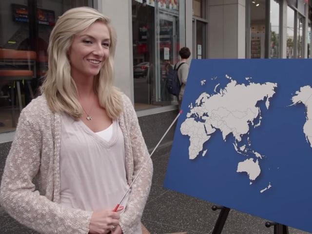Видео дня: прохожие в США не нашли ни одной страны на карте мира. Даже своей
