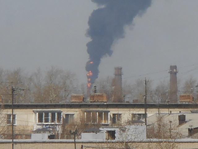На южноуральском заводе произошел пожар