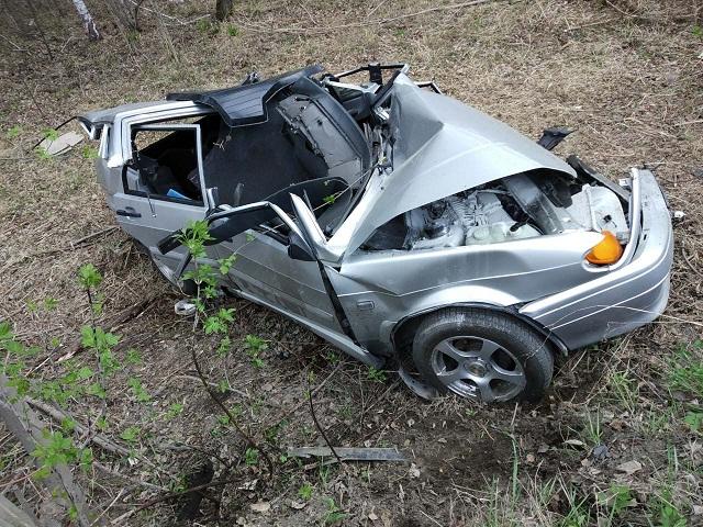 На Южном Урале водитель Kia на высокой скорости протаранил «ВАЗ»