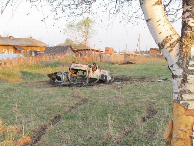 В Челябинской области мужчина сгорел в перевернувшейся «Оке»