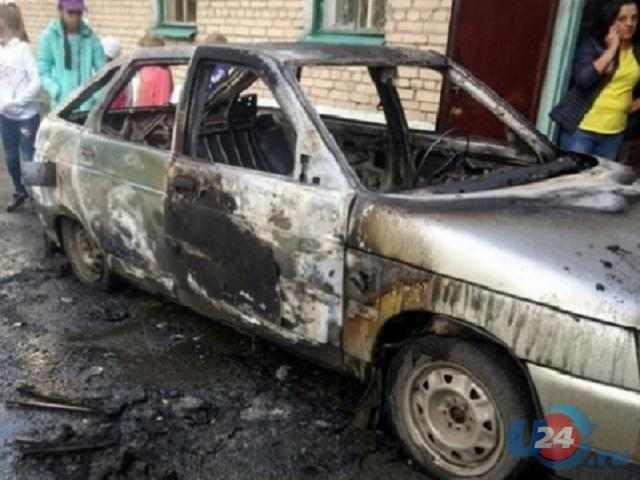 В Челябинской области на территории детсада сгорел автомобиль