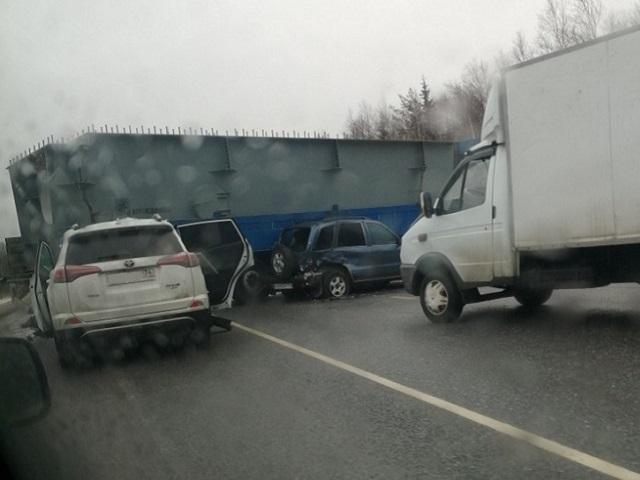 Массовое ДТП на М-5 в Челябинской области спровоцировало гигантскую пробку