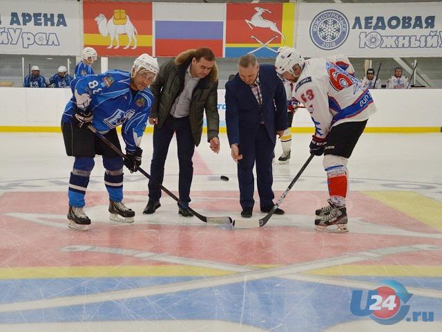 В Южноуральске прошло открытие ночной хоккейной лиги