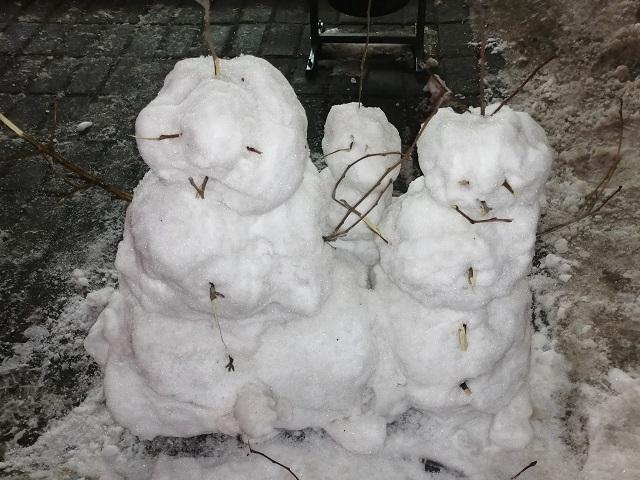 «Какие-то они нерадостные»: семья челябинских снеговиков развеселила интернет-пользователей