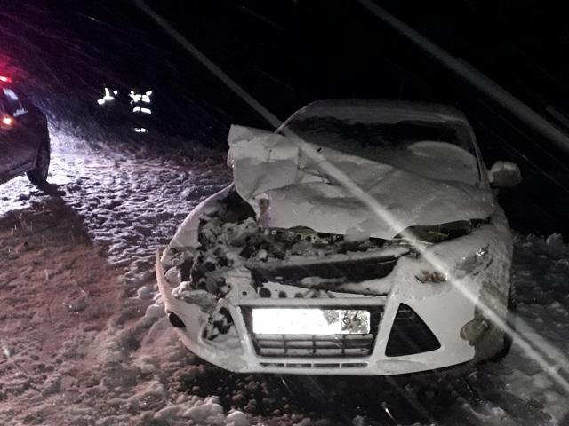 Снегопад спровоцировал аварию на трассе в Челябинской области