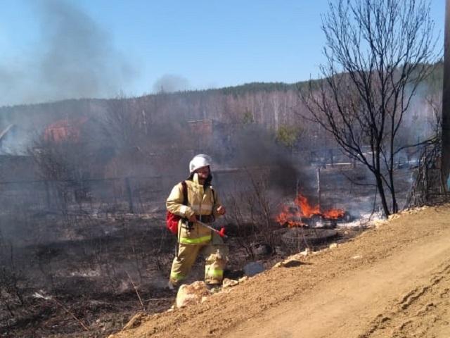 Жительница Миасса спалила пять садовых участков, сжигая сухую траву