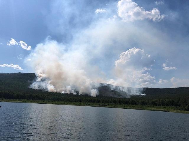 На Тургояке третьи сутки горит лес