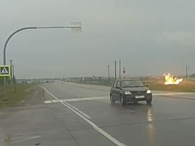 На Южном Урале из-за удара молнии вспыхнул газопровод