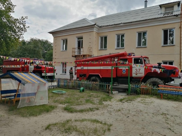 На Южном Урале из горящего детского сада эвакуировали 55 человек
