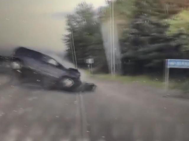 Видеорегистратор снял момент жёсткого лобового ДТП в Челябинской области