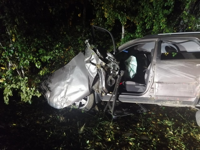 В Челябинской области пассажирка кроссовера погибла в ночном ДТП