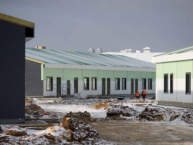 В новой инфекционной больнице под Челябинском готовят к сдаче первые корпуса