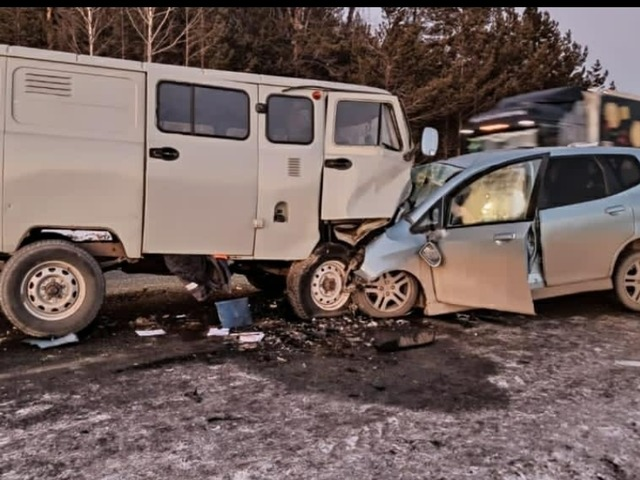 В Челябинской области в лобовом ДТП погиб водитель иномарки