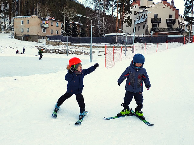 Клуб-отель «Золотой пляж» приглашает на детскую горнолыжную трассу