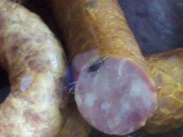 В Златоусте наказали предпринимателя, который торговал колбасой с тараканами