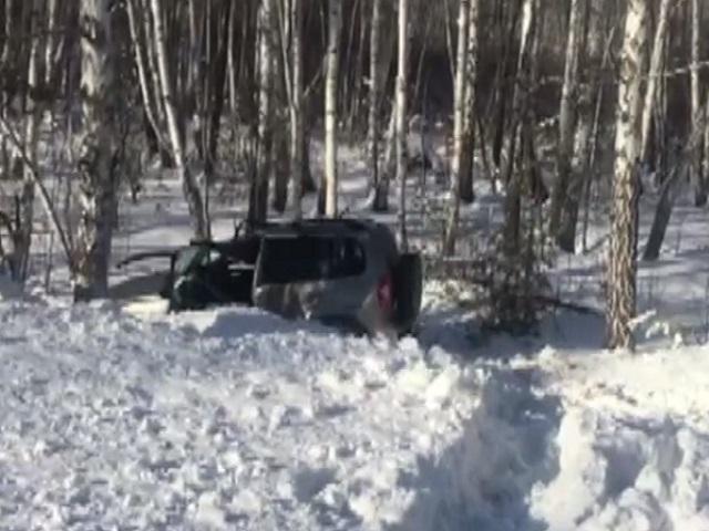 Есть погибший: в Челябинской области автомобиль врезался в дерево и опрокинулся