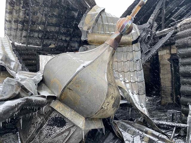 В Челябинской области сгорел храм