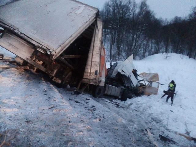 Под Ашой в массовой аварии с большегрузами погиб водитель КамАЗа