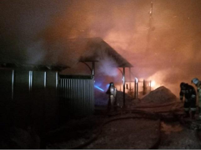 В Челябинской области в крупном пожаре сгорели четыре дома