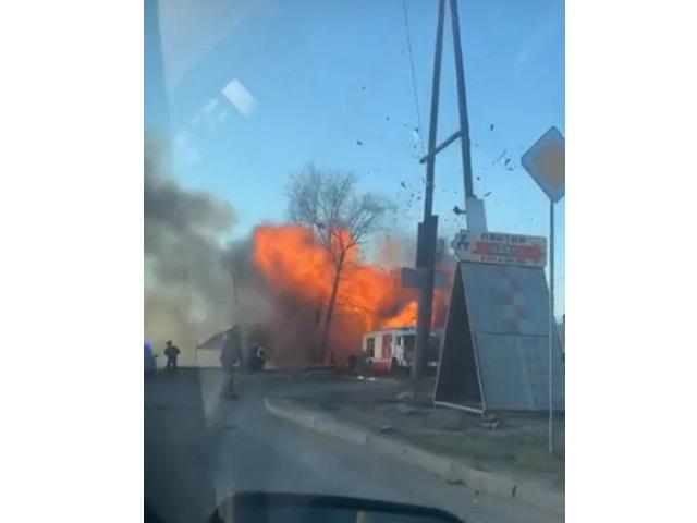 На выезде из Челябинска прогремел взрыв