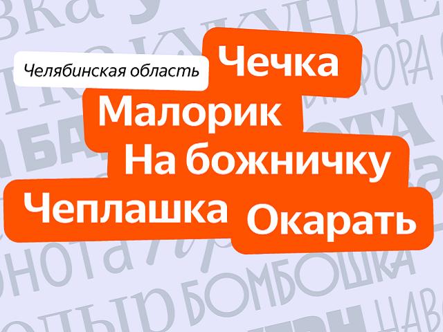 Яндекс назвал челябинские местные слова
