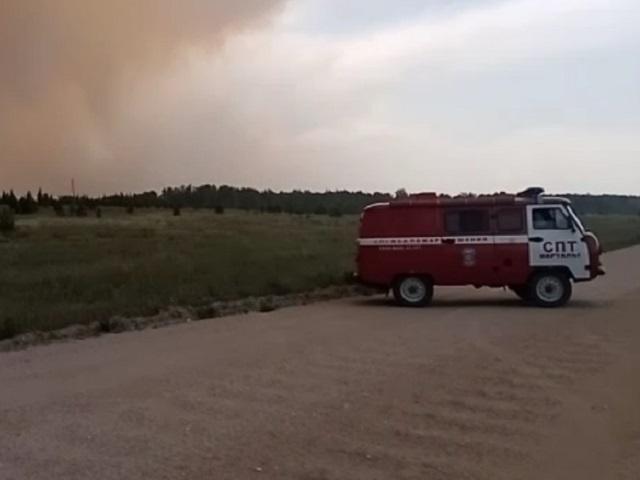 Крупный лесной пожар подступает к южноуральским поселкам