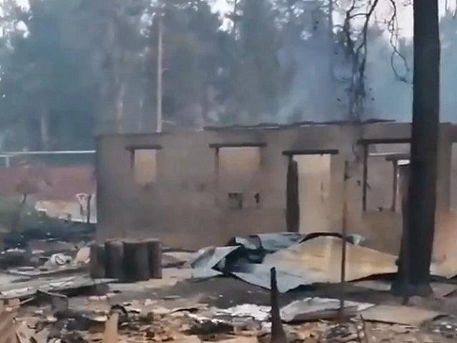 В Челябинской области в сгоревшем из-за лесного пожара поселке найдено тело мужчины