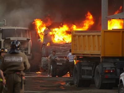 В Челябинске сгорели 19 МАЗов стоимостью около 60 млн рублей