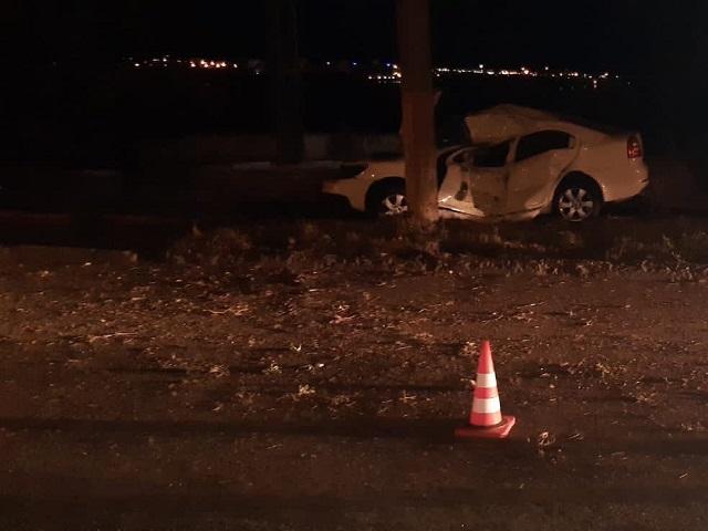 В Челябинской области водитель погиб, врезавшись в столб