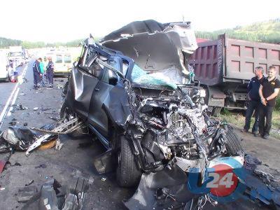 ФОТО: жуткая авария под Миассом на М5 утром 16 июля
