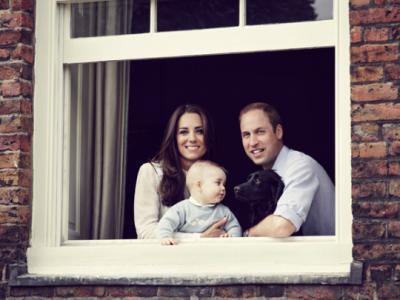 Завтра исполнится год наследнику британского престола принцу Джорджу
