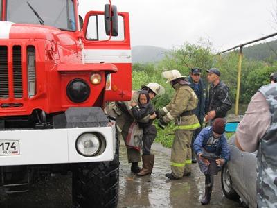 В Златоусте уходит под воду частный сектор в районе Тесьмы