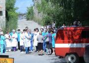 Больницы посоревновались в тушении пожара