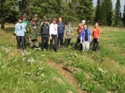 Сотрудники нацпарка «Таганай» отметили профессиональный праздник в лесу. Хвойным культурам стало легче