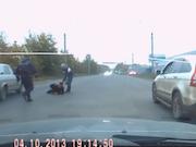 Расследуется ДТП на Тургоякском шоссе с участием полицейского